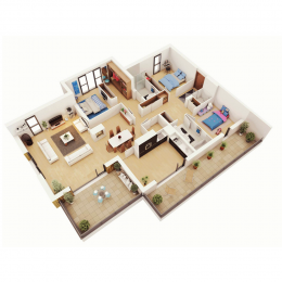 Четиристайни апартаменти - Интериори Plans.bg